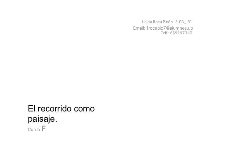 Loida Roca Picón 2 GB_ B1                    Email: lrocapic7@alumnes.ub                                Telf: 659197347El ...