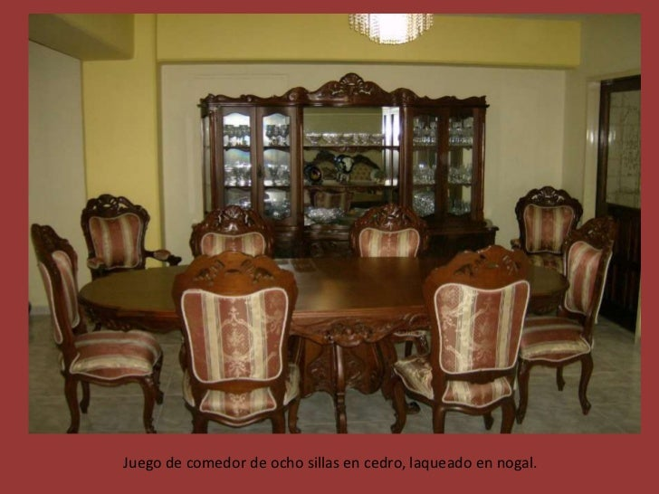 Galeria de muebles for Comedores finos