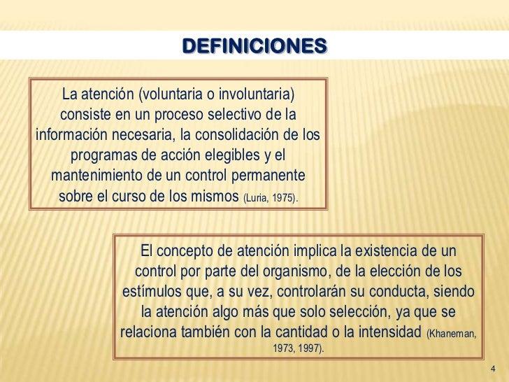 La atencion definicion y caracteristicas for Origen y definicion de oficina