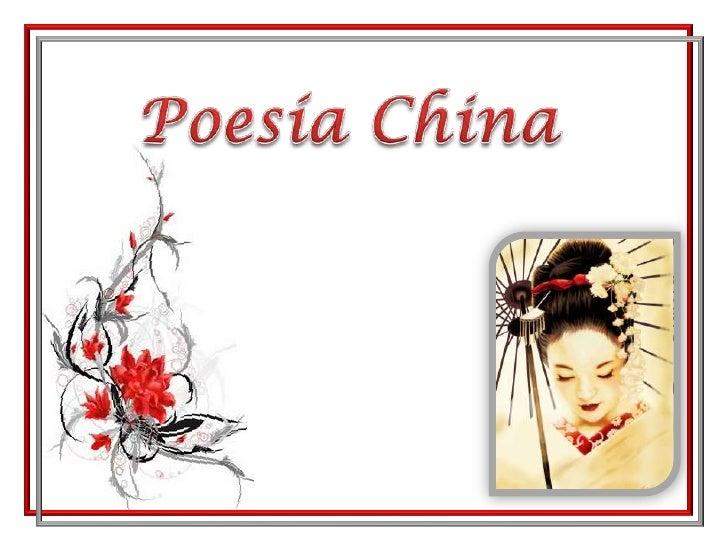 Poesía China<br />