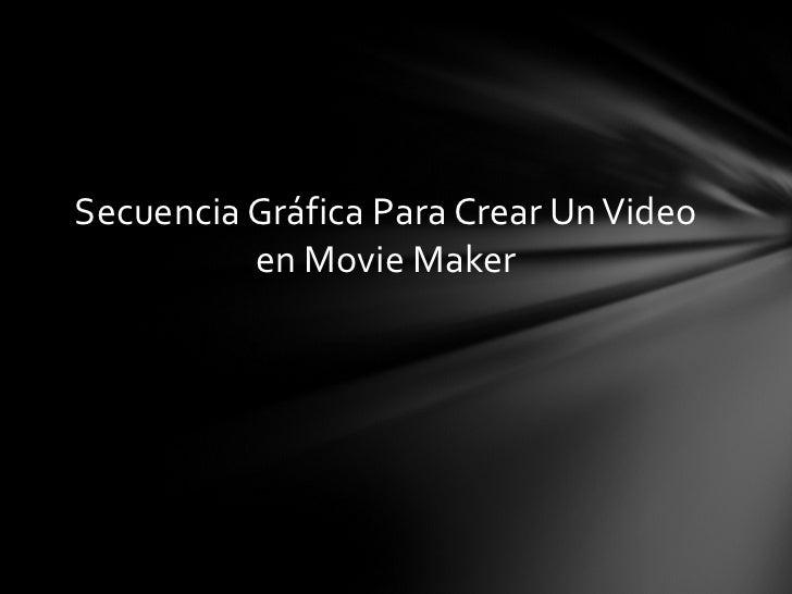 Secuencia Gráfica Para Crear Un Video en Movie Maker