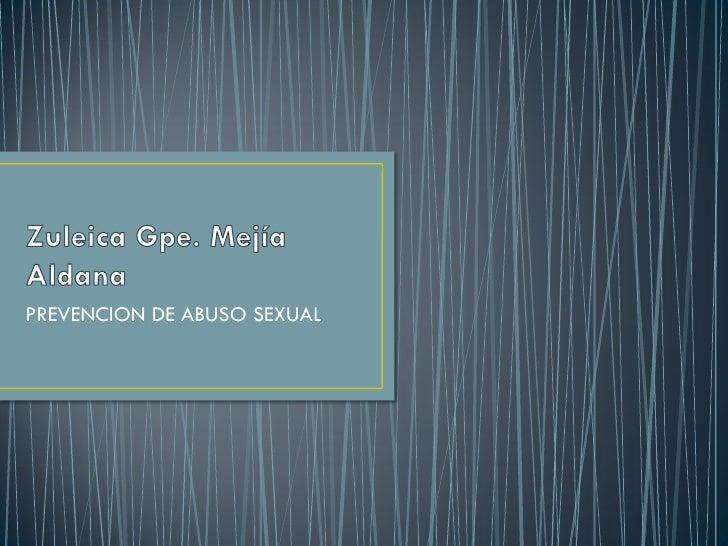 PREVENCION DE ABUSO SEXUAL