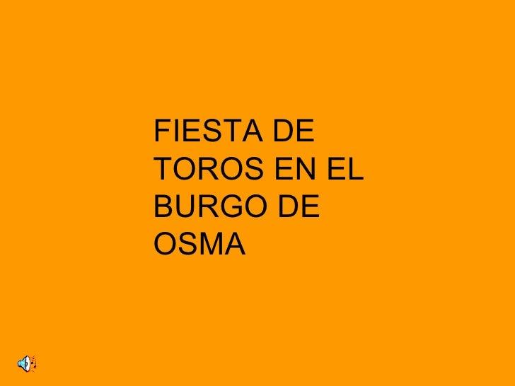 FIESTA DETOROS EN ELBURGO DEOSMA