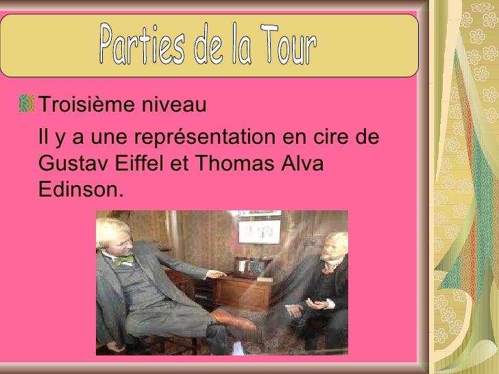 Gustav Eiffel a été l'architecte qu'il a faitla Tour Eiffel.     Sa vie  - Il est né le 15 décembre 1832 à Dijon et     mo...