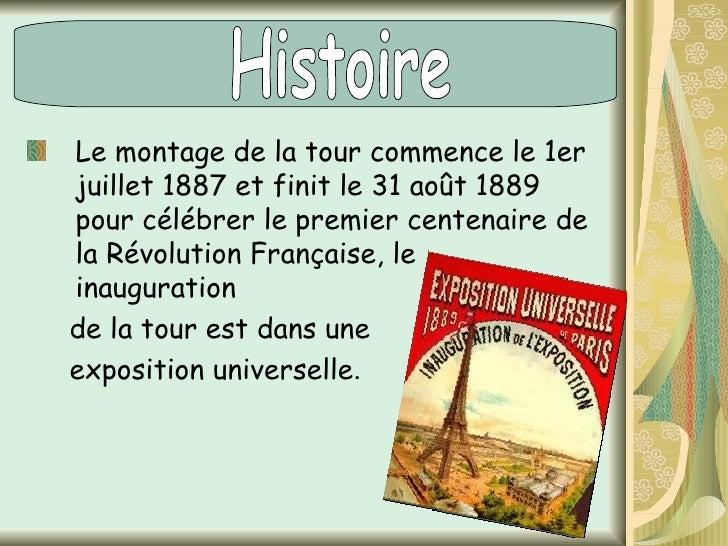 En 1921 , la Tour Eiffel a realisé la  première émission de radio en direct.  En 1944, la Tour survita un incendie par des...