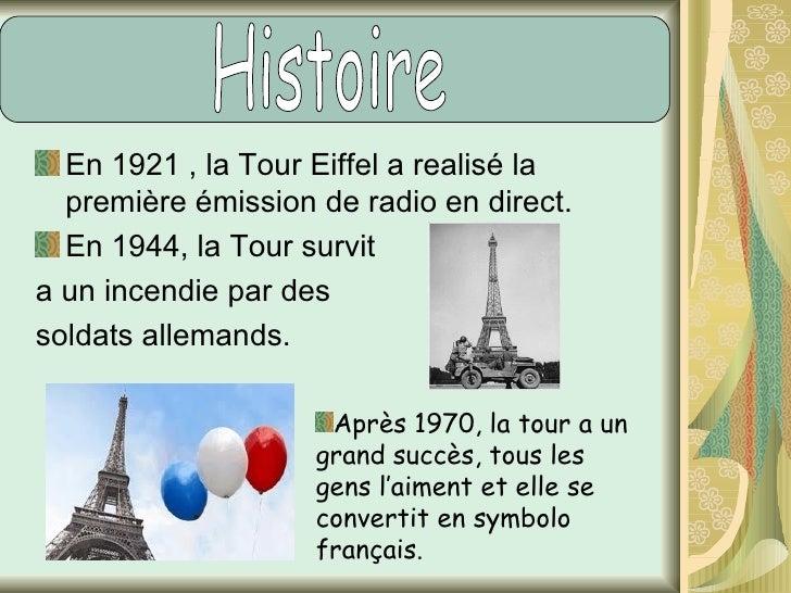Quand l'exposition finit (1990) les français voulaient l'abattre parce qu'ils ne leur aimait pas. La tour Eiffel était fer...