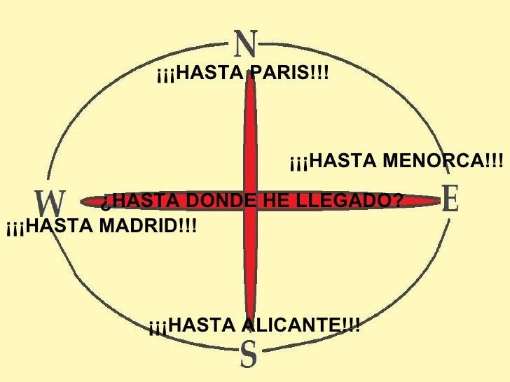 ¿HASTA DONDE HE LLEGADO? ¡¡¡HASTA PARIS!!! ¡¡¡HASTA MENORCA!!! ¡¡¡HASTA MADRID!!! ¡¡¡HASTA ALICANTE!!!