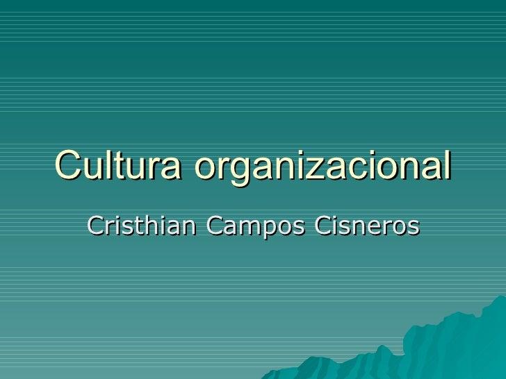Cultura organizacional Cristhian Campos Cisneros