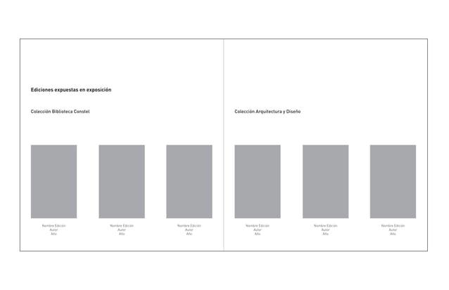 Ediciones expuestas en exposiciónColección Biblioteca Constel                                      Colección Arquitectura ...