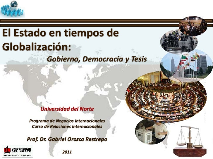 Presentación 2   el estado en tiempos de globalización
