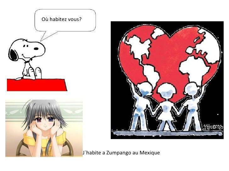Où habitez vous? J`habite a Zumpango au Mexique