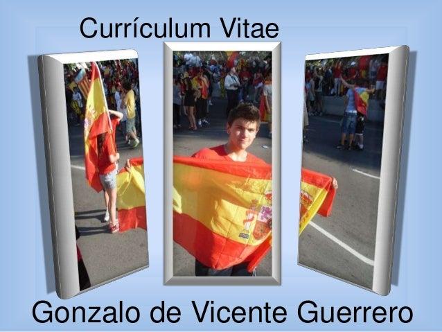 Currículum Vitae  Gonzalo de Vicente Guerrero