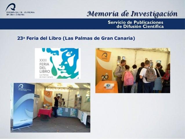Memoria de investigaci n de la ulpgc curso 2010 2011 for Oficinas mapfre las palmas