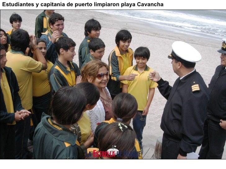 Estudiantes y capitan ía de puerto l impiaron playa Cavancha