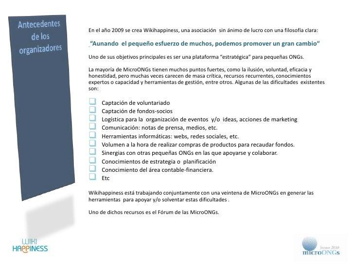 Presentación 2º Forum de las MicroONGs Slide 2
