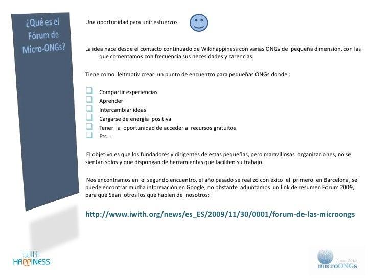 Presentación 2º Forum de las MicroONGs Slide 3