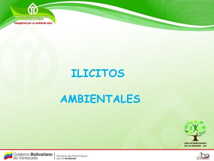 ILICITOSAMBIENTALES
