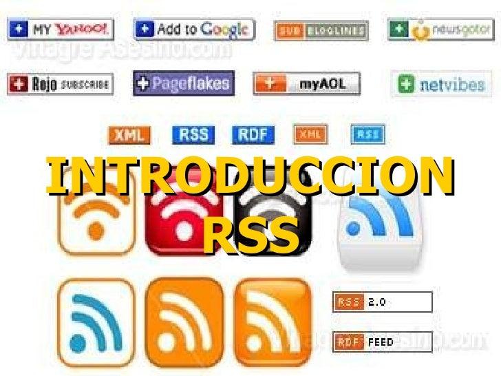 INTRODUCCION RSS