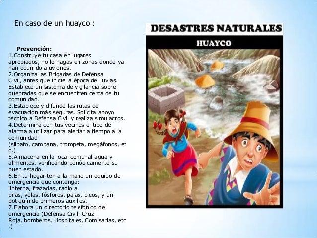 Cómo Actuar En Caso De Un Huayco Foro Perúeduca