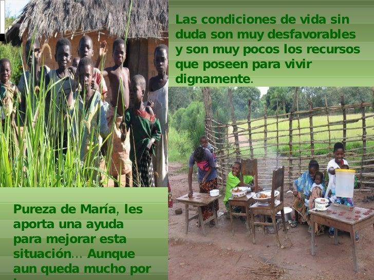 Las condiciones de vida sin duda son muy desfavorables y son muy pocos los recursos que poseen para vivir dignamente.   Pu...