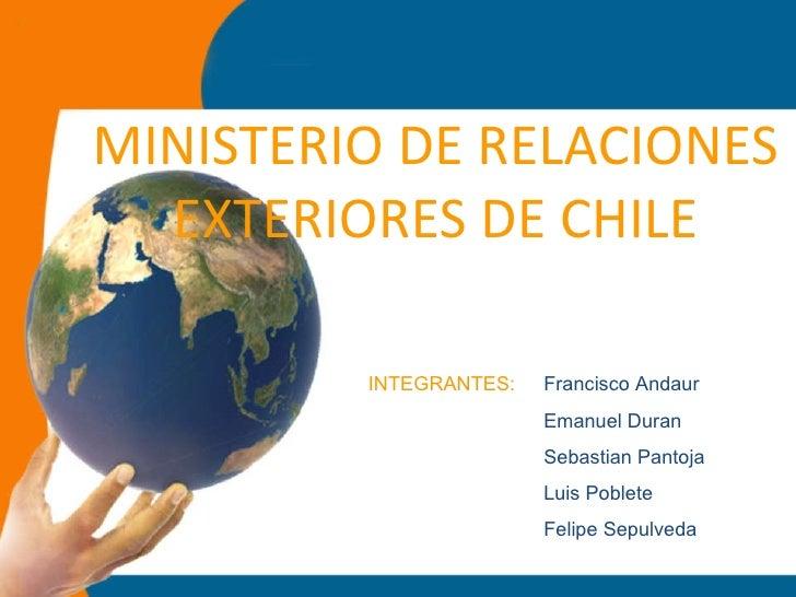 Ministerio de relaciones exteriores de chile for Oposiciones ministerio de exteriores
