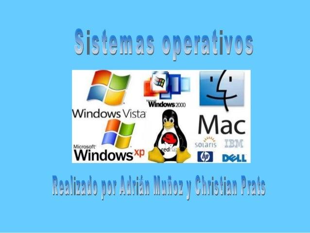-Sistemas operativo  1.- Principales funciones  2.- Definición  3.- Controladores  4.- Desinstalar una aplicación  5.- Sis...