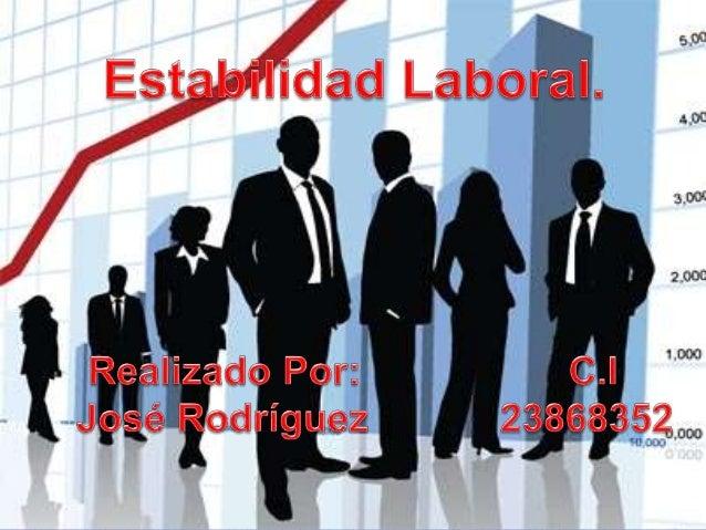 ESTABILIDAD EN EL TRABAJO PDF DOWNLOAD