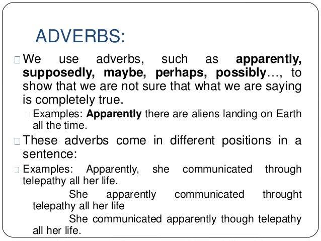 Resultado de imagen de adverbs to speculate