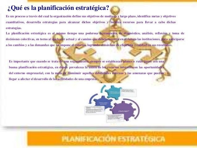 ¿Qué es la planificación estratégica? Es importante que cuando se trata de una organización, siempre se establezcan planes...