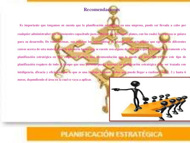Estrategias de planificación