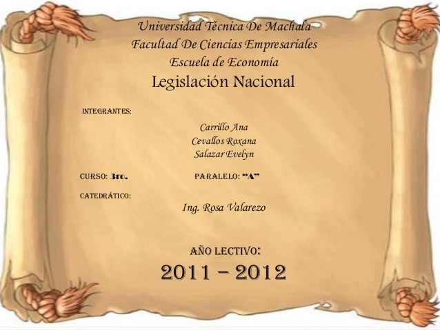 Universidad Técnica De Machala              Facultad De Ciencias Empresariales                     Escuela de Economía    ...