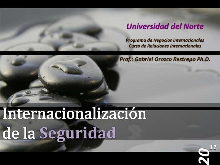 Presentación 5 - Internacionalización de la Seguridad