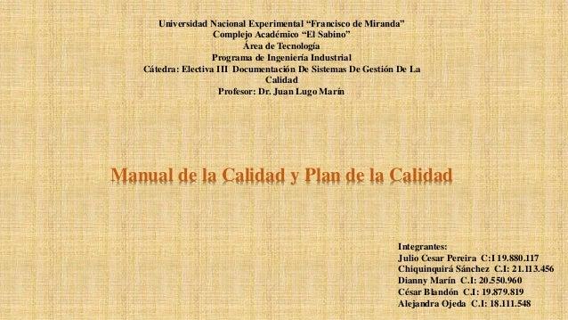 """Universidad Nacional Experimental """"Francisco de Miranda"""" Complejo Académico """"El Sabino"""" Área de Tecnología Programa de Ing..."""
