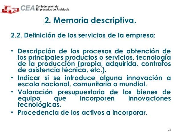 Presentaci n seguimiento y justificaci n del proyecto for Memoria empresa