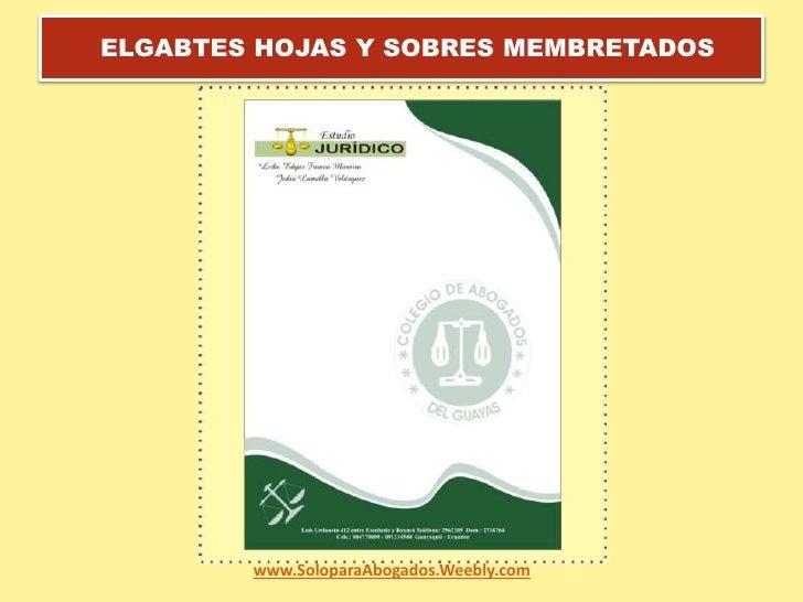 Tarjetas Para Abogados Del Ecuador