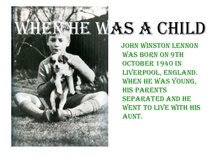 John Lennon's life Slide 2