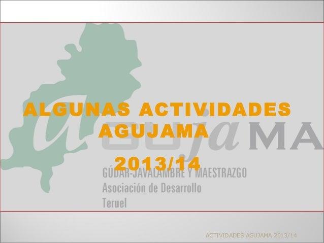ACTIVIDADES AGUJAMA 2013/14 ALGUNAS ACTIVIDADES AGUJAMA 2013/14