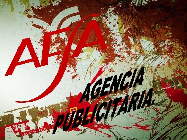 AGENCIA PUBLICITARIA.