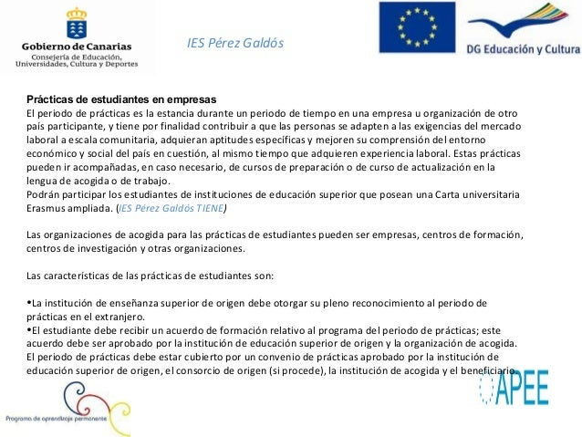 IES Pérez GaldósDuraciónEn los casos de estudiantes matriculados en un ciclo deformación profesional de grado superior, de...