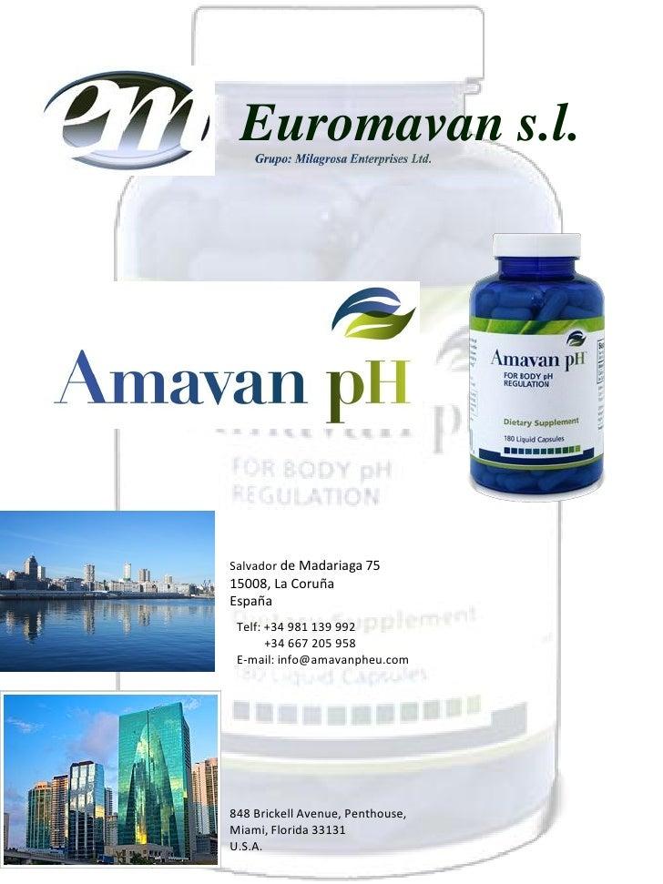 Euromavan s.l.Salvador de Madariaga 7515008, La CoruñaEspaña Telf: +34 981 139 992       +34 667 205 958 E-mail: info@amav...