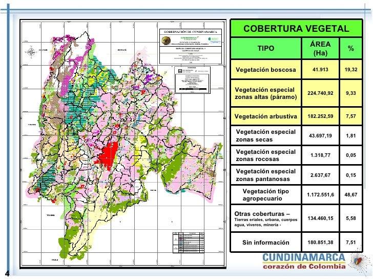 4 7,51 180.851,38 Sin información 5,58 134.460,15 Otras coberturas –  Tierras eriales, urbana, cuerpos agua, viveros, mine...