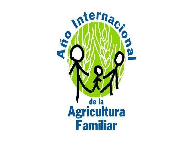 ANO INTERNACIONAL DA AGRICULTURA FAMILIAR SERÁ IMPORTANTE PARA LEMBRAR QUE A AGRICLTURA: • ASEGURA A PRODUCIÓN DE ALIMENTO...