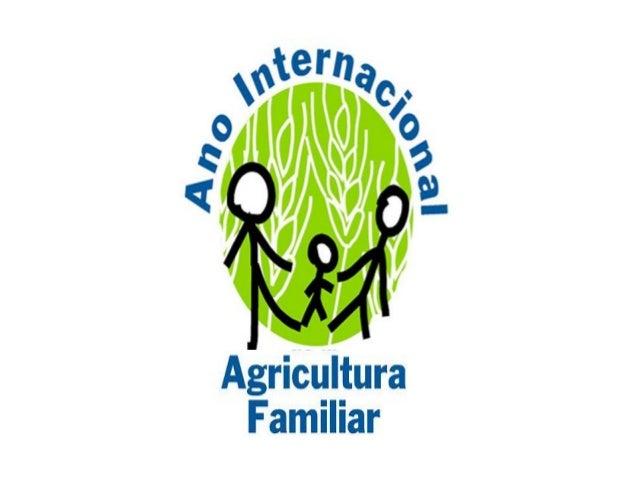 ANO INTERNACIONAL DA AGRICULTURA FAMILIAR SERÁ IMPORTANTE PARA LEMBRAR QUE A AGRICULTURA: • ASEGURA A PRODUCIÓN DE ALIMENT...
