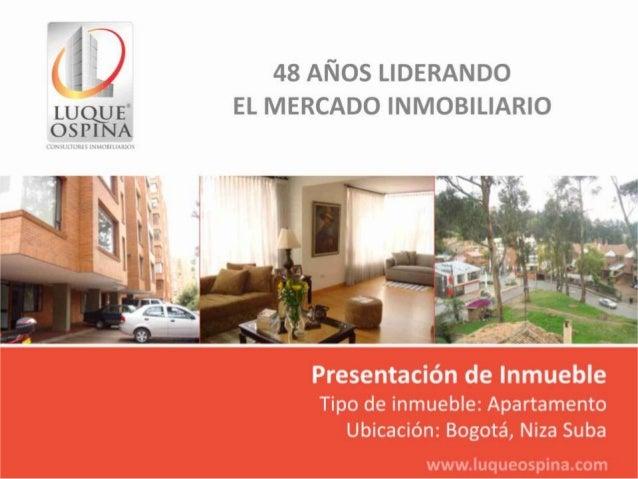 Ubicación del Inmueble                                Barrio: Niza Suba            Av. Boyaca  Zona de Ubicaciónde Inmuebl...