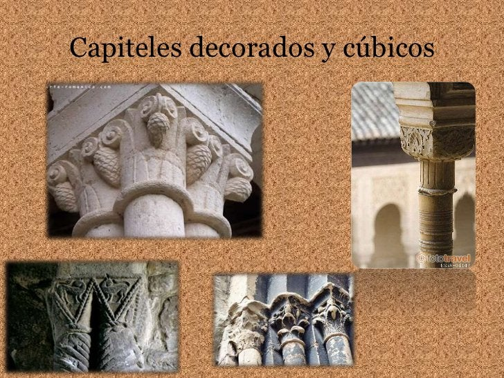 Capiteles decorados y cúbicos<br />