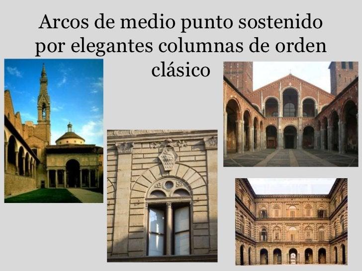 Arcos de medio punto sostenido por elegantes columnas de orden clásico<br />