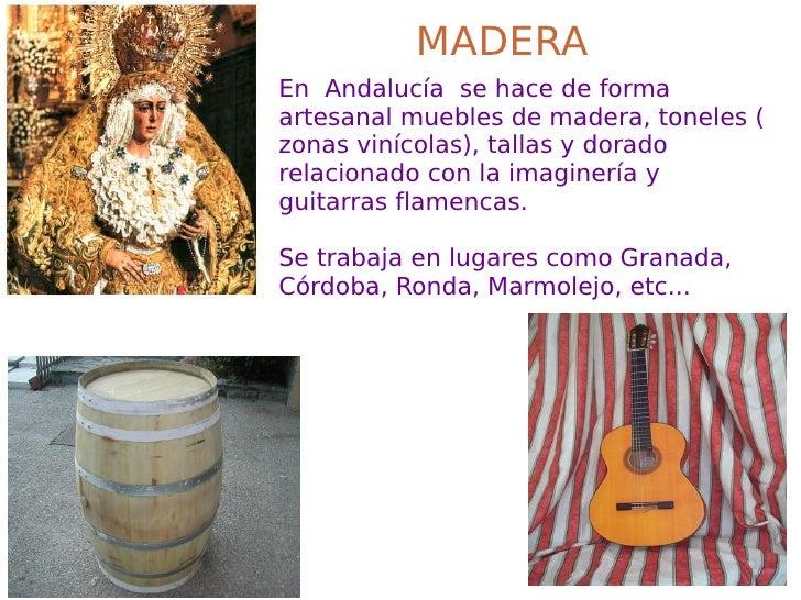 Presentaci n artesania andaluza for Muebles andalucia cordoba