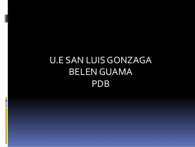 U.E SAN LUIS GONZAGA BELEN GUAMA PDB