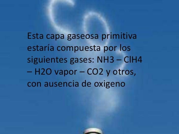 Composición química de la atmósfera. 3 La hidrosfera ...