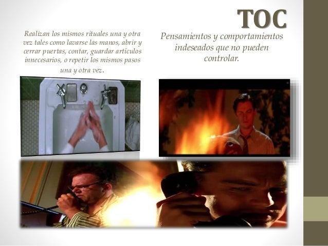TOCRealizan los mismos rituales una y otra vez tales como lavarse las manos, abrir y cerrar puertas, contar, guardar artíc...